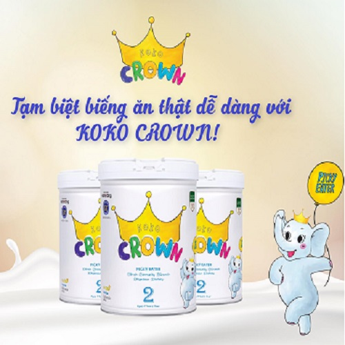 Sữa Koko Crown Picky Eater 2 trẻ biếng ăn 2 tuổi