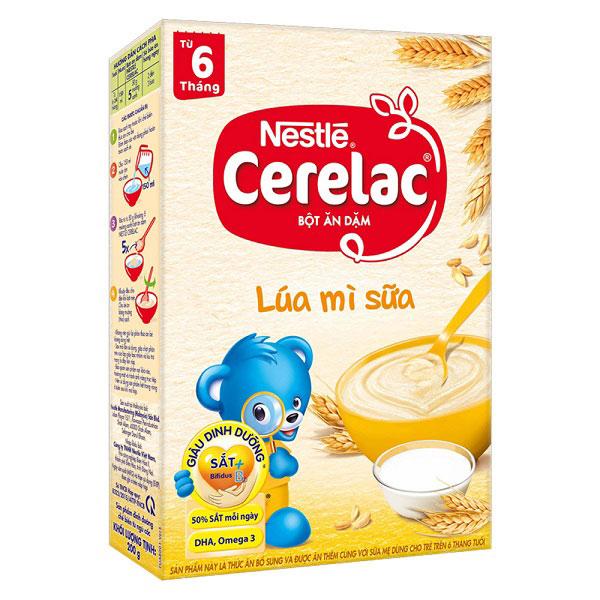 Bột Ăn Dặm Cerelac Lúa Mì Sữa, 200g, bé > 6 tháng.