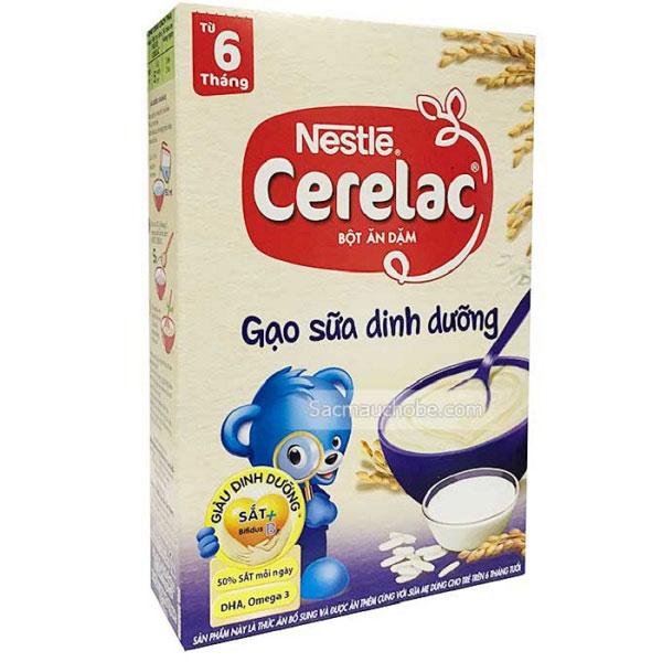 Bột Ăn Dặm Cerelac Vị Gạo Sữa, 200g, > 6 tháng