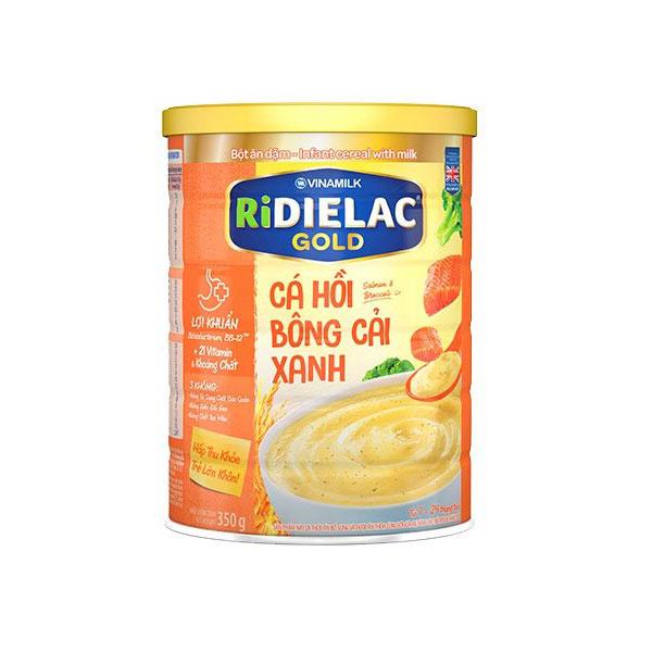 Bột Ăn Dặm Ridielac Gold Cá Hồi Bông Cải, 350g