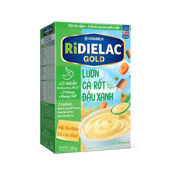 Bột Ăn Dặm cho bé Ridielac Gold Lươn Đậu Xanh