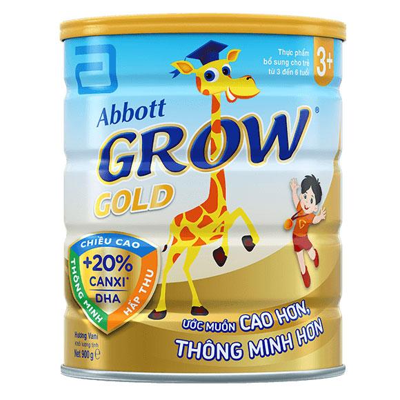Sữa bột Abbott Grow Gold 3+, hộp 900g, trẻ 3-6 tuổi