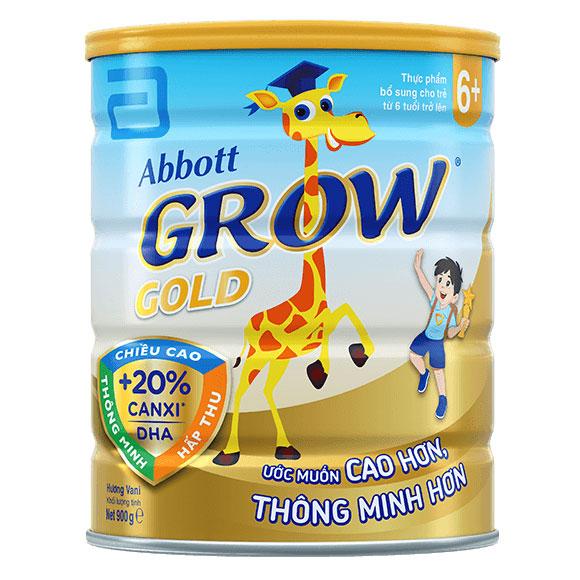 Sữa bột Abbott Grow Gold 6+, 900g, trẻ trên 6 tuổi