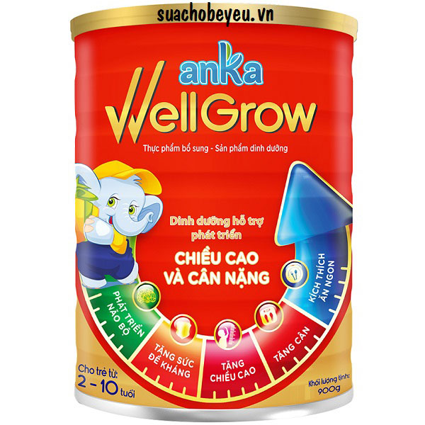 Sữa Anka Well Grow, Kerry Ireland, 2-10 tuổi, 900g