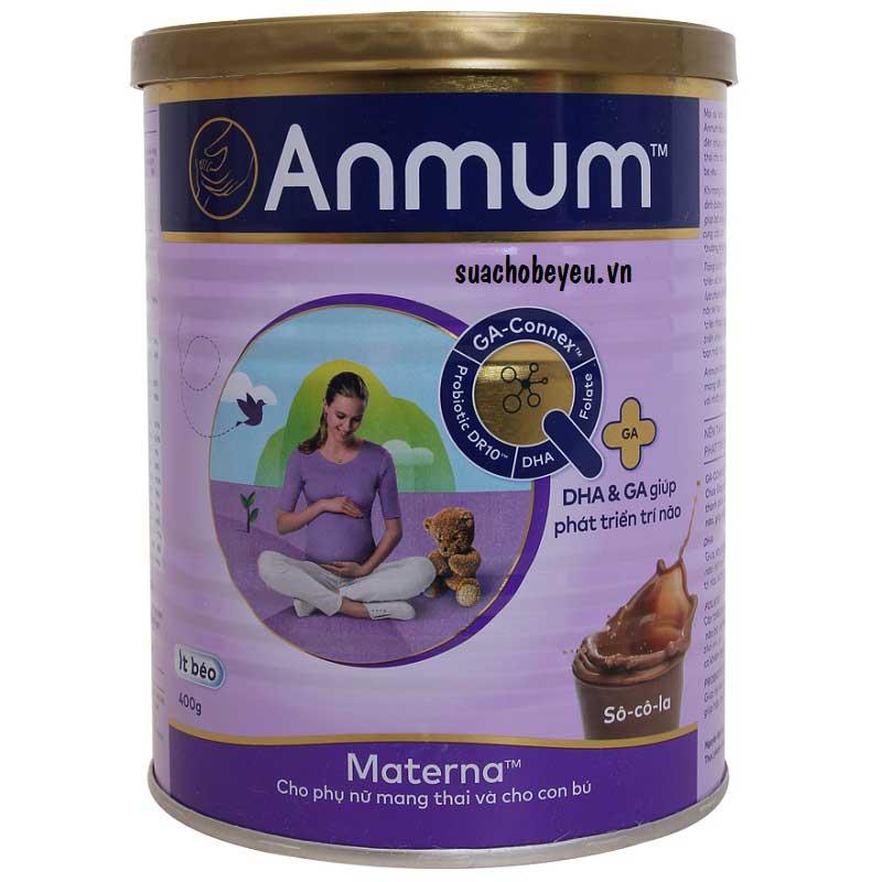 Sữa bột Anmum Materna hương vị Socola, 400g