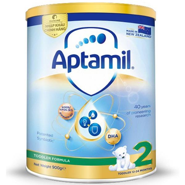 Sữa Aptamil New Zealand số 2 cho trẻ 1-2 tuổi, lon 900g