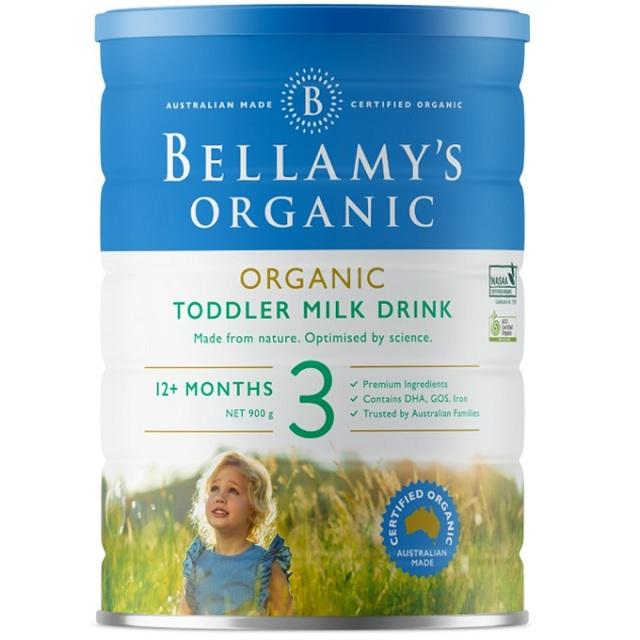 Sữa Bellamys Organic Úc số 3 cho trẻ trên 1 tuổi, 900g