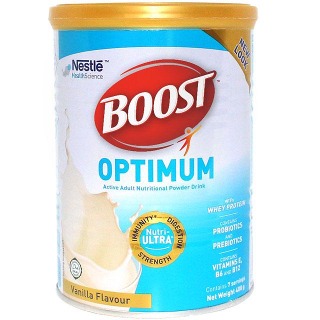Sữa Boots Optimum dinh dưỡng người lớn tuổi, 400g
