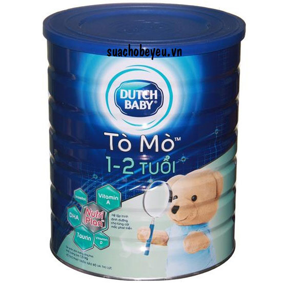 Sữa bột Cô gái Hà Lan Tò Mò, 1-2 tuổi, lon 1.5kg