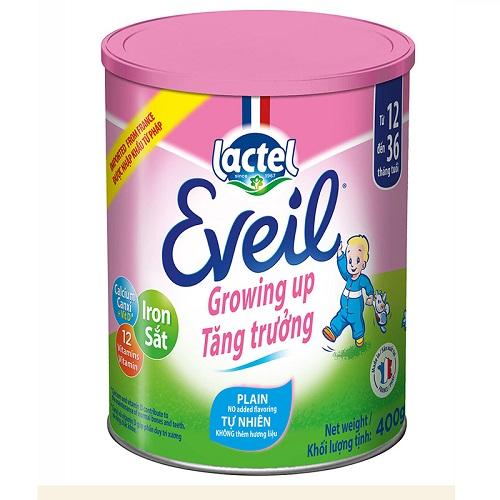 Sữa bột Pháp Lactel Eveil cho trẻ 1-3 tuổi lon 400g