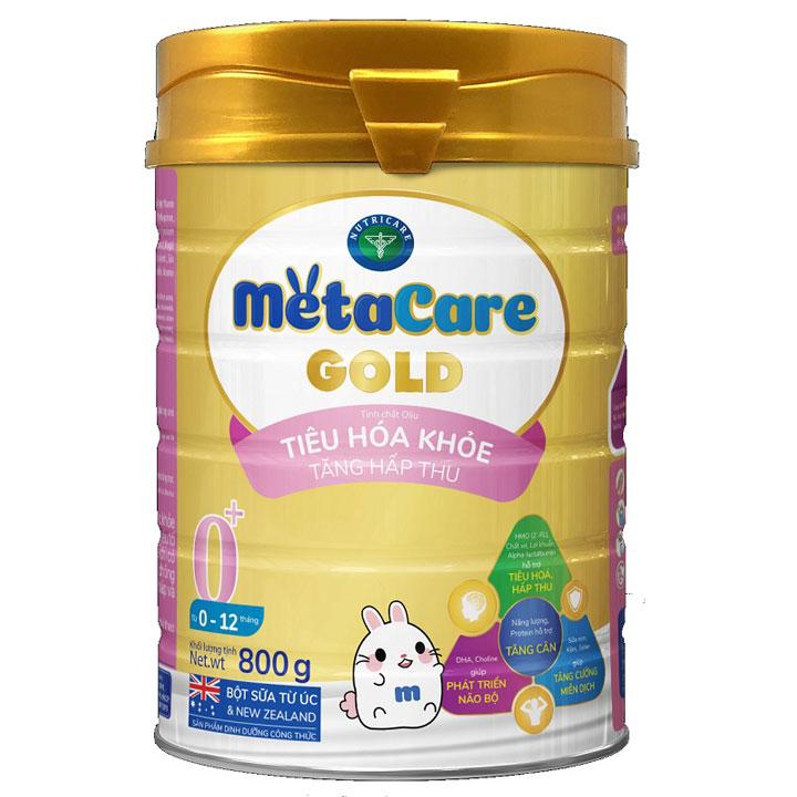 Sữa MetaCare Gold số 0+ cho trẻ 0-12 tháng tuổi, 800g