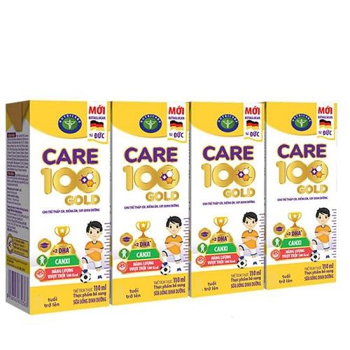 Sữa công thức pha sẵn Care 100 Gold hộp 110ml cho trẻ biếng ăn