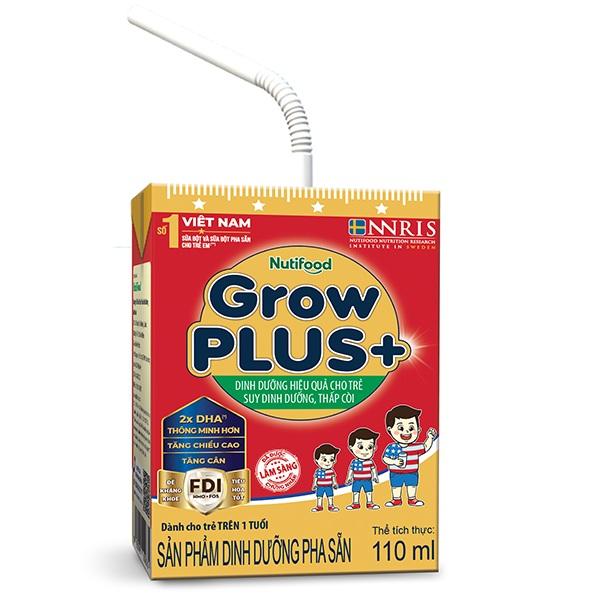 Sữa bột pha sẵn Nuti Grow Plus + Đỏ, hộp 110ml