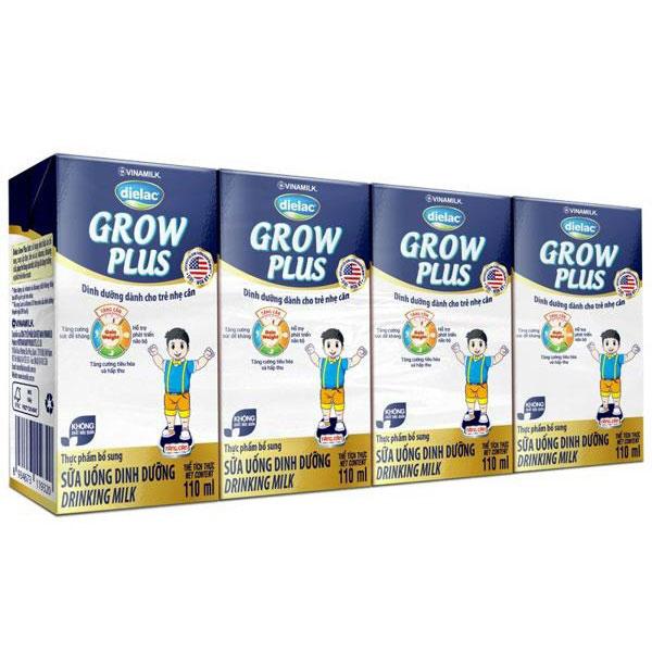 Sữa Dielac Grow Plus Màu Xanh, 110ml, >1 tuổi