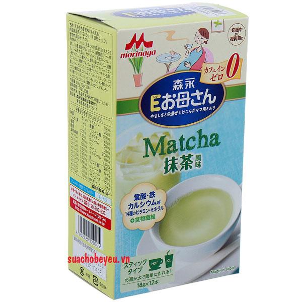 Sữa bầu Morinaga nội địa Nhật Bản vị Matcha