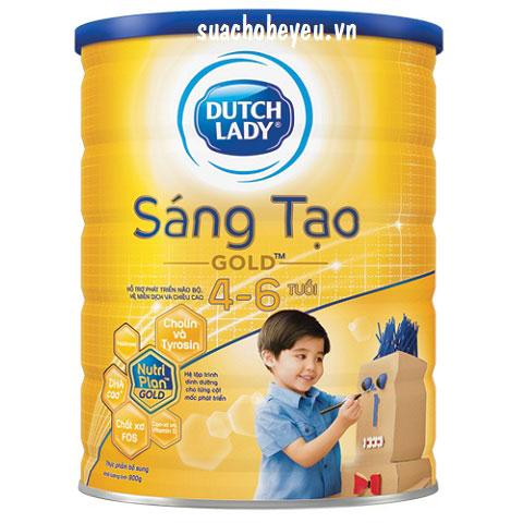 Sữa Cô Gái Hà Lan Sáng Tạo Gold, 4-6 tuổi, 900g
