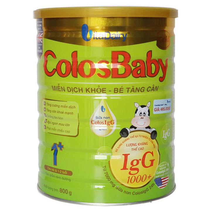 Sữa non Colosbaby Gold 1+, trẻ 1-2 tuổi lon 800g
