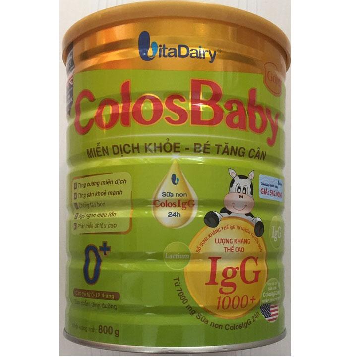 Sữa non Colosbaby Gold 0+ lon 800g cho trẻ 0-12 tháng tuổi