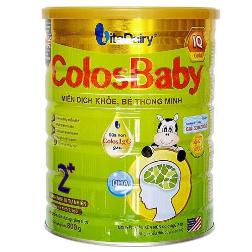 Sữa Colosbaby IQ Gold 2+ cho trẻ trên 2 tuổi,  lon 800g