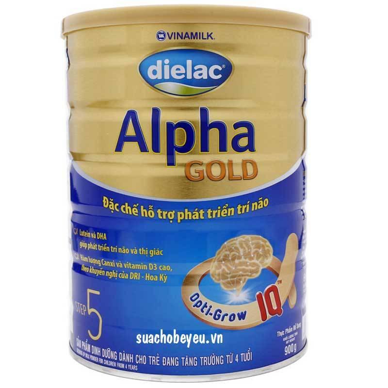 Dielac Alpha Gold Step 5, Vinamilk, 900g, 4-6 tuổi