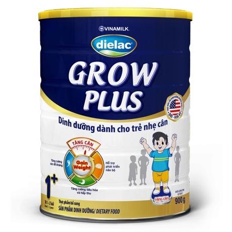 Sữa Dielac Grow Plus 1+ Màu Xanh, 900g, 1-2 tuổi