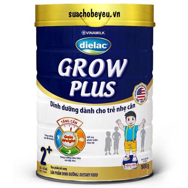 Sữa Dielac Grow Plus 2+ Màu Xanh, 900g, 2-10 tuổi