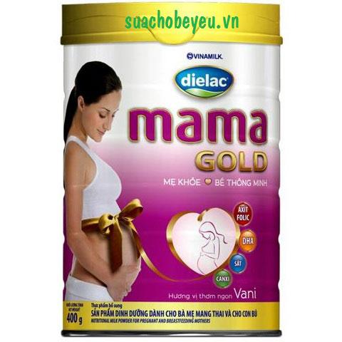 Sữa cho mẹ mang thai Dielac Mama Gold, 400g