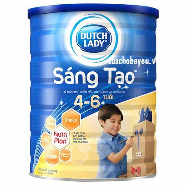 Sữa Cô Gái Hà Lan Sáng Tạo, 4-6 tuổi, lon 900g