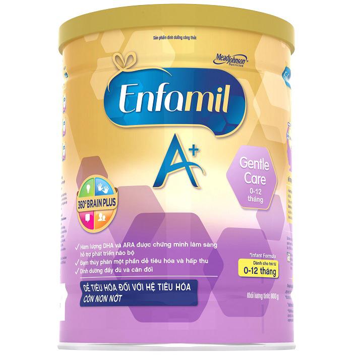 Sữa Enfamil A+ Gentle Care, 800g, 0-12 tháng tuổi
