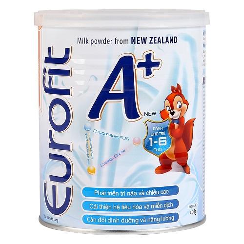 Sữa bột Eurofit A+ cho trẻ từ 1 đến 6 tuổi lon 400g