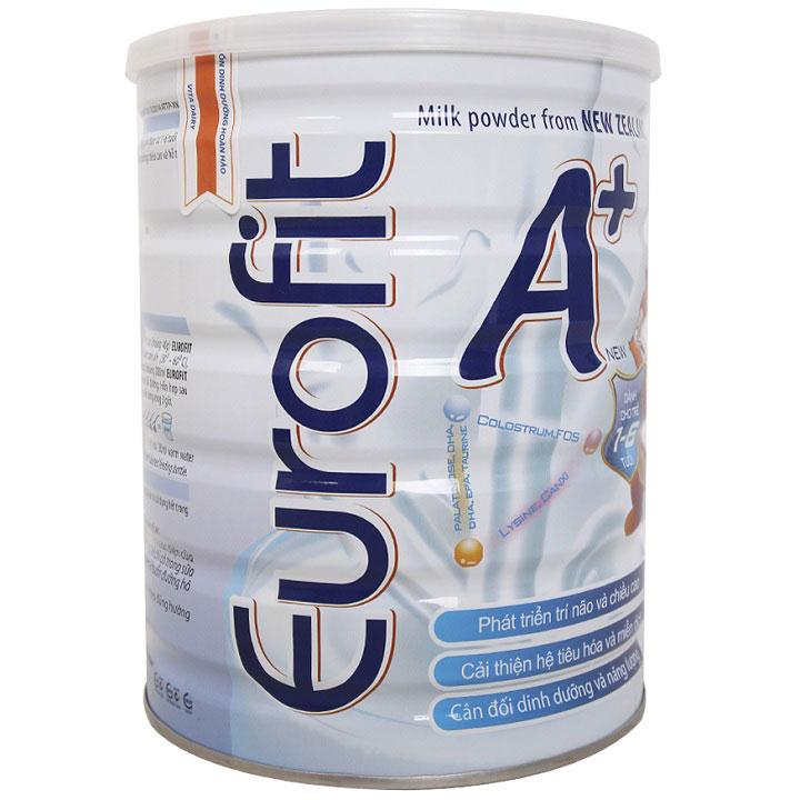 Sữa bột Eurofit A+ cho trẻ  từ 1 đến 6 tuổi lon 900g