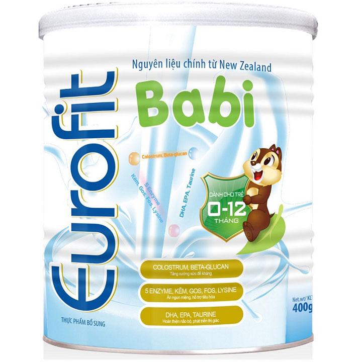 Sữa Eurofit Babi dành cho trẻ 0-12 tháng lon 400g