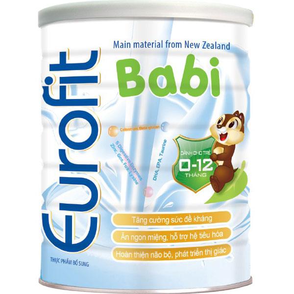 Sữa Eurofit Babi dành cho trẻ 0-12 tháng lon 900g