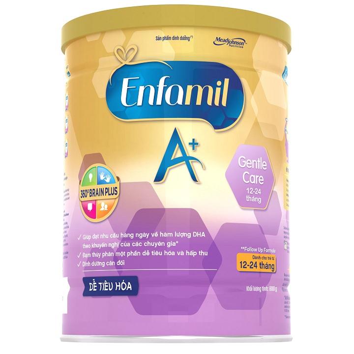 Sữa Enfamil A+ Gentle Care, 800g, 12-24 tháng tuổi