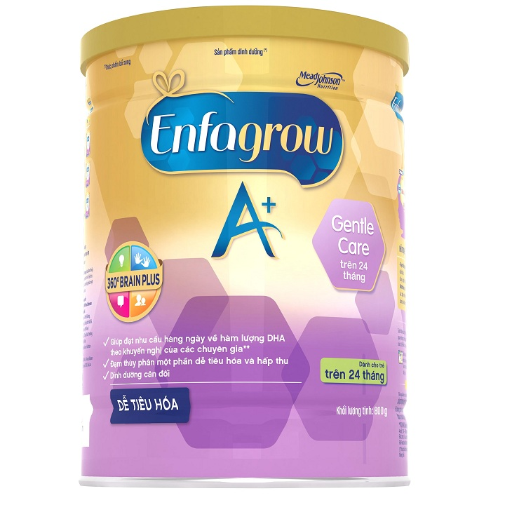 Sữa Enfagrow A+ Gentle Care, 800g, trên 24 tháng tuổi