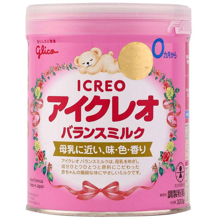 Sữa Glico Icreo, 100% nội địa Nhật, 0-9 tháng, 320g