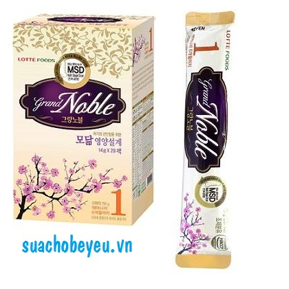 Sữa Grand Noble 1, Lotte Foods, dạng thanh, 0-6 tháng