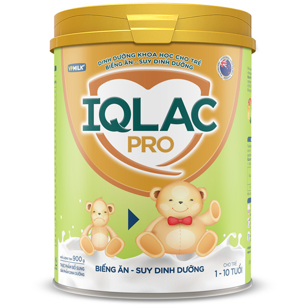 Sữa IQlac Pro Biếng ăn, hộp 400g, cho trẻ 1-10 tuổi