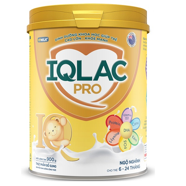 Sữa IQlac Pro  Ngộ nghĩnh, 6-24 tháng tuổi, 900g