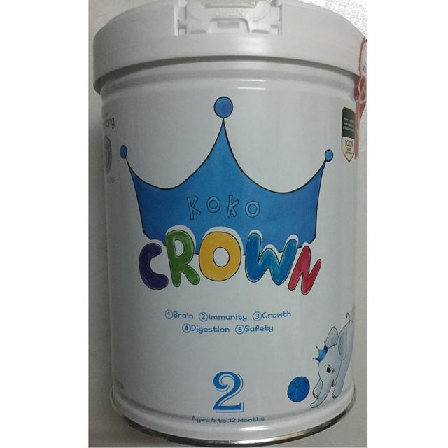 Sữa Koko Crown số 2, Hàn Quốc, 6-12 tháng, 800g