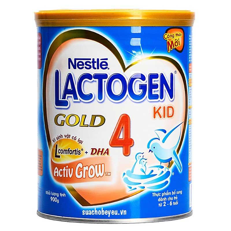 Sữa Lactogen Gold 4, Nestlé Thụy Sĩ, 2-6 tuổi, 900g