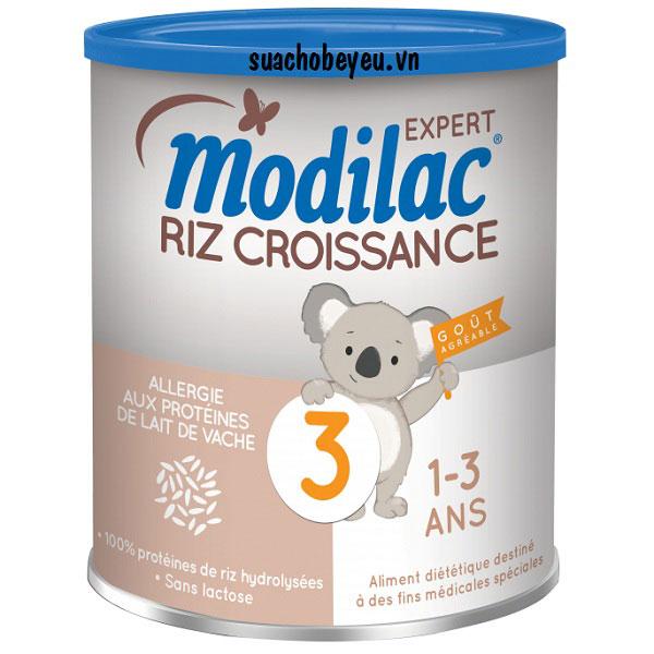Sữa Modilac Riz Croissance 3, dị ứng sữa bò, 1-3 tuổi