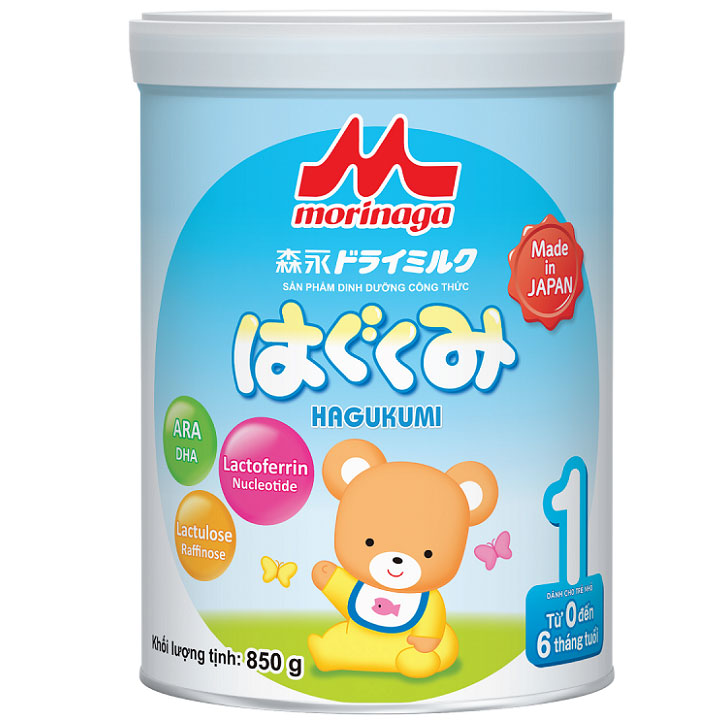 Sữa Morinaga số 1, Nhật Bản, 850g, 0-6 tháng tuổi