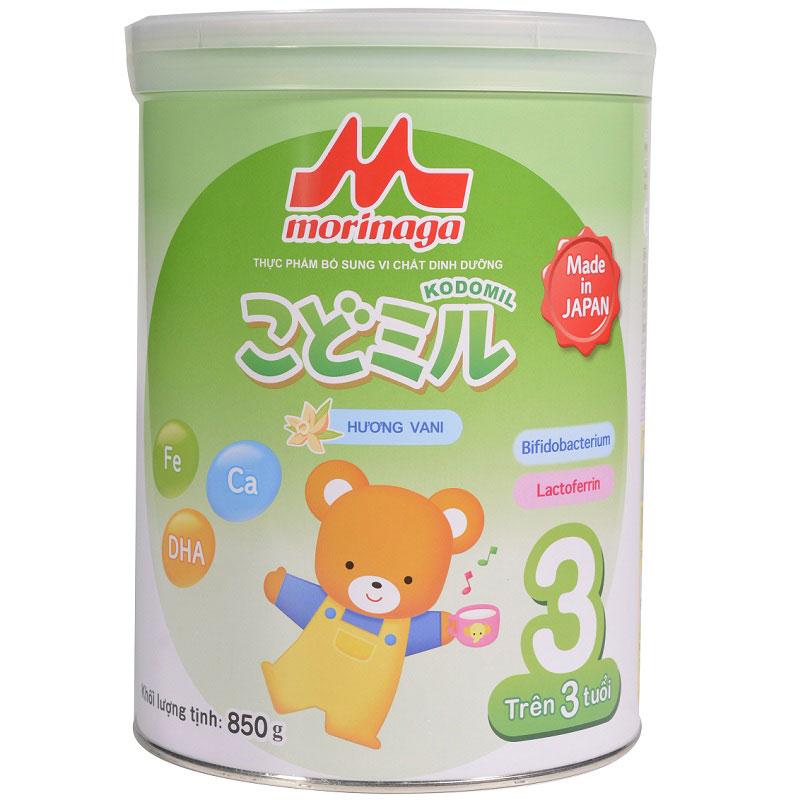 Sữa Morinaga số 3 Kodomil Nhật Bản vị vani, 850g, từ 3 tuổi