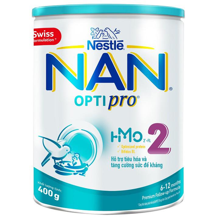 Sữa Nan Optipro 2, Nestlé Thụy Sĩ, 400g, 6-12 tháng