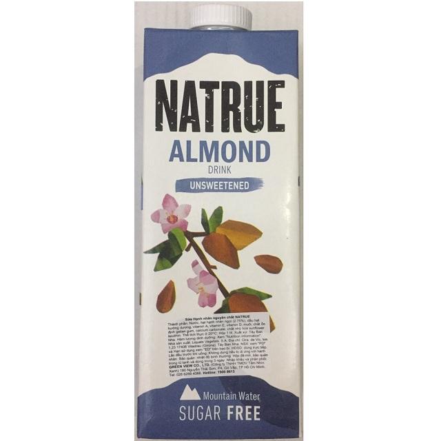 Sữa Natrue Almond hạnh nhân không đường 6 hộp 1L