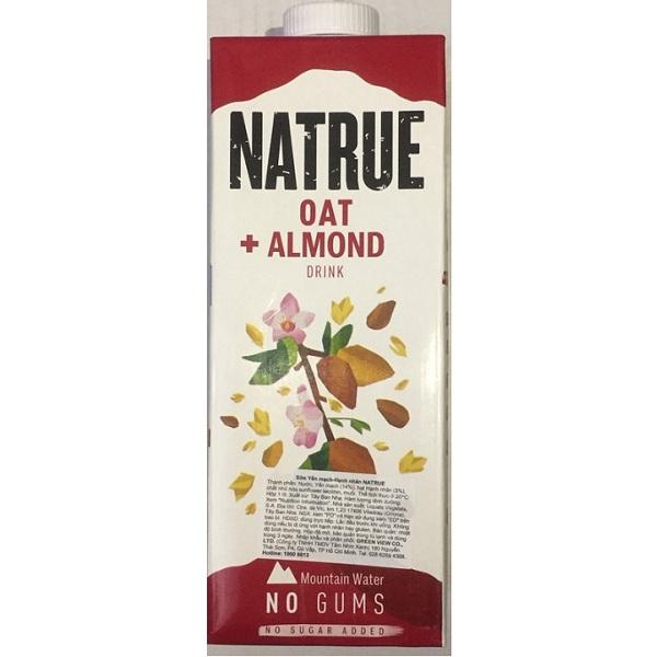 Sữa hạnh nhân yến mạch Natrue Oat Almond hộp 1L