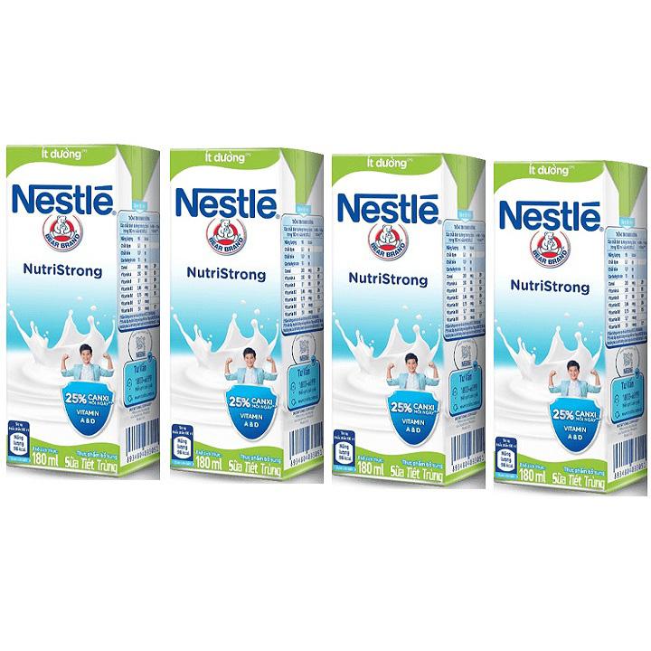 Sữa nước Nestle Nutri Strong Ít Đường, hộp 180ml