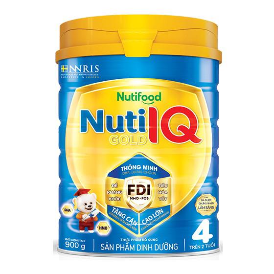 Sữa Nuti IQ Gold Step 4, Nutifood, 900g, 2-6 tuổi