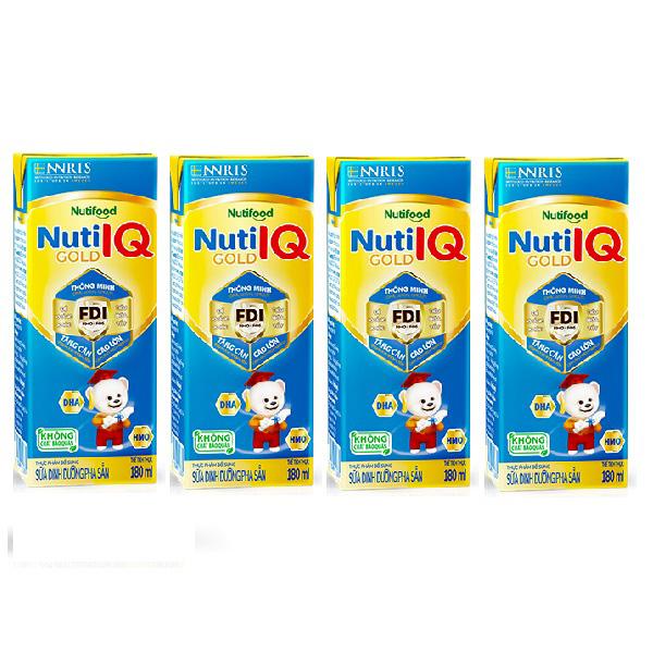 Sữa Dinh Dưỡng Pha Sẵn Nuti IQ Gold, 180ml, trên 1 tuổi